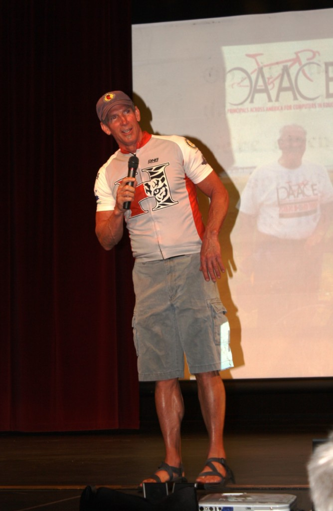 Roy Hoyt, principal of Hurricane Middle School