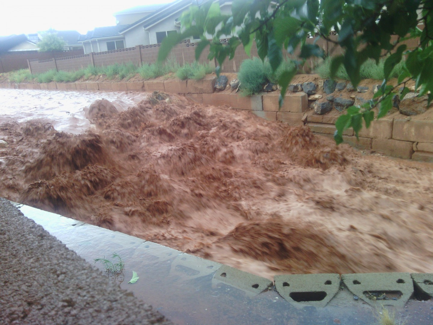 Drainage by Pine Valley Townhomes, Washington, Utah, July 26, 2013 | Photo by Aimee Cox, St. George News