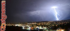 Thunderstorms over St. George, St. George, Utah, July 22, 2013 | Photo by Yvonne Baur for St. George News