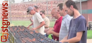 Firework artists from Vortex Fireworks Artists with Todd Alford and crew preparing fireworks for Pioneer Day in Washington City, Utah, July 23, 2013   Photo by Michael Flynn, St. George News