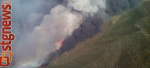 Black Mountain Fire near Minersville, Utah, June 2, 2013 | Photo courtesy of Clint Coates, Bureau of Land Management