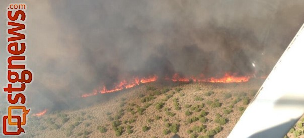 Black Mountain Fire near Minersville, Utah, June 3, 2013 | Photo courtesy of  Bureau of Land Management