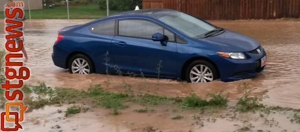 Flooding in Cedar City, Utah, July 27, 2013 | Photo by Dallan Cunningham, St. George News