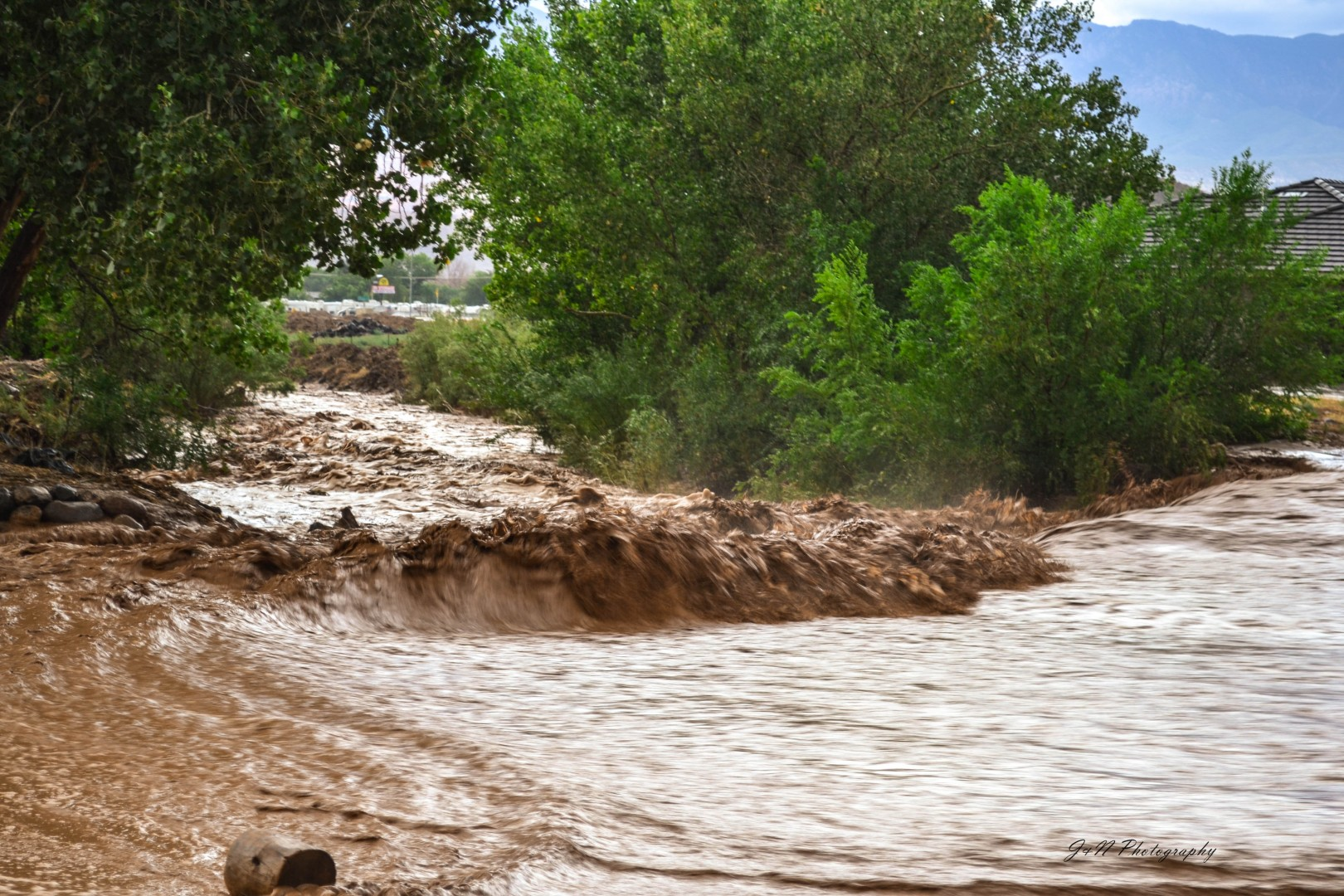 Flooding in Hurricane, Utah, July 26, 2013 | Photo by Jeremy Crawford, St. George News
