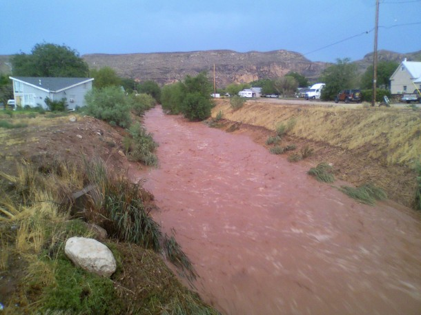 Wash near 700 West 400 South, Hurricane, Utah, July 26, 2013 | Photo by Casey Lofthouse for St. George News