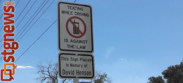 The anti-text/distracted driver sign on Dixie Drive. The first of many new signs bound for St. George streets, St. George, Utah, July 25, 2013 | Photo by Mori Kessler, St. George News