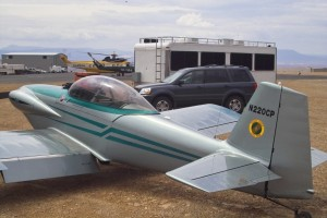 """Maj. John """"Jack"""" Spey's RV-4 aircraft, parked at the St. George Municipal Airport, St. George, Utah, Feb. 2008 
