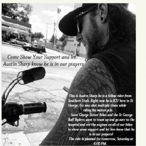 Support ride for Austin Sharp online flier