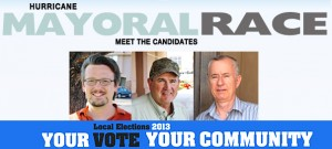 L-R:  John Bramall, Jerry Dallape, Martin D. Cain. Hurricane City mayoral candidates 2013 | profile photos courtesy of the candidates