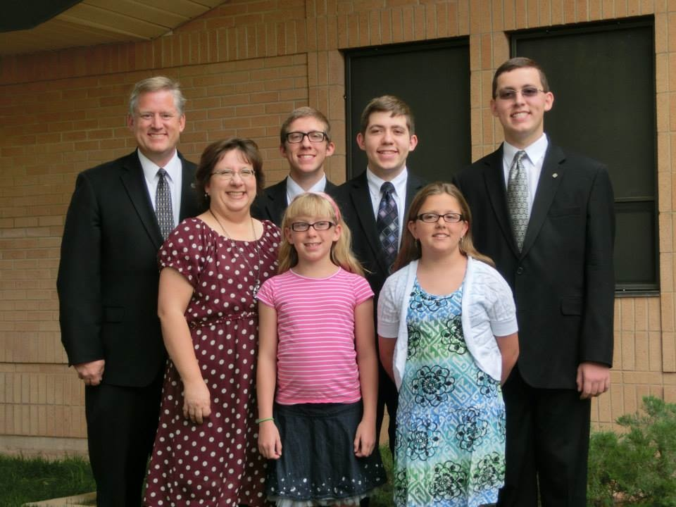 LaVerkin mayoral candidate Ann Wixom, center-left, with family, LaVerkin, Utah, August 2013 | Photo courtesy of Ann Wixom