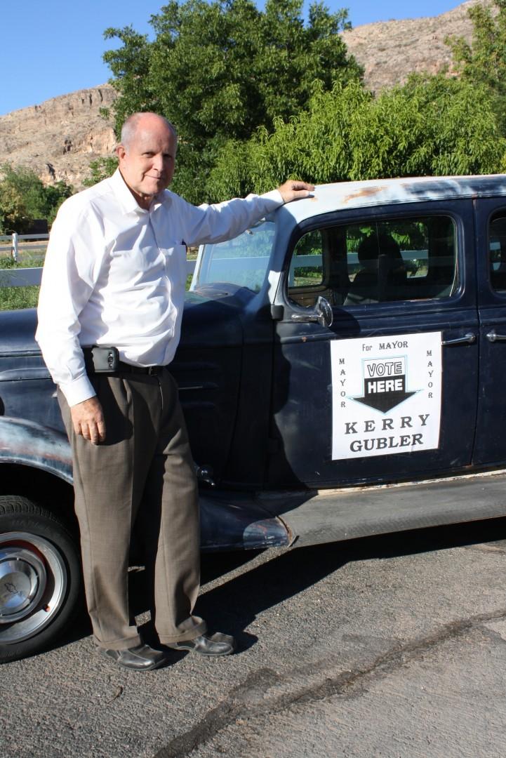 LaVerkin mayoral candidate Kerry Gubler, LaVerkin, Utah, August 2013 | Photo courtesy of Kerry Gubler