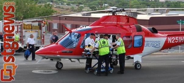 Life Flight responds to auto-bicycle accident, Washington, Utah, Aug. 10, 2013   Photo courtesy of Dee Ann Bond