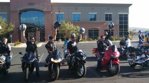 Helmets raised support of Austin Sharp, St. George, Utah, Aug. 17, 2013   Photo by Mori Kessler, St. George News