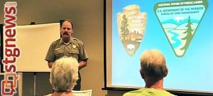 Open house forum regarding Virgin River Management Plan - Environmental Assessment, Springdale, Utah, Aug. 21, 2013 | Photo by Dan Mabbutt, St. George News