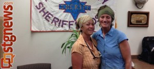 (L-R), Suzy Wheeler-Mang amd Christian Delahunty, found alive and well after missing for over a day, Kane County, Utah, Aug. 26, 2013   Photo courtesy of the Kane County Sheriff's Office