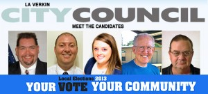 L-R: Ray Justice, Josh Melessa, Chantelle Browning, Ken Hooten, Darwin DeMille. Candidates for LaVerkin City Council, Municipal Election 2013, LaVerkin, Utah | Photos courtesy of candidates