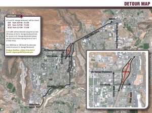 Detour route map | Graphic courtesy of the Utah Department of Transportation