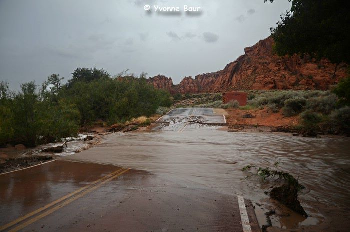 Flooding Snow Canyon State Park STGnews