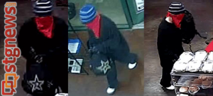 Security photos of armed robbery suspect from Maverik store located at 2078 E. Riverside  in St. George, Utah, Sept. 5, 2013 | Photos courtesy of St. George Police Department, St. George News