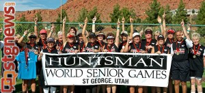 Victory! Gold medal-winning women's softball team California Express, Huntsman World Senior Games, Oct. 13, 2012 | Photo by Dave Amodt, St. George News