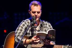 """Matthew West sharing """"stories"""" at Into the LIght Concert, Cox Stadium, Dixie State University, St. George, Utah, Sept. 28, 2013 