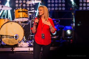 """Renée Napier, the woman behind Matthew West's song, """"Forgiveness."""" Into the LIght Concert, Cox Stadium, Dixie State University, St. George, Utah, Sept. 28, 2013 