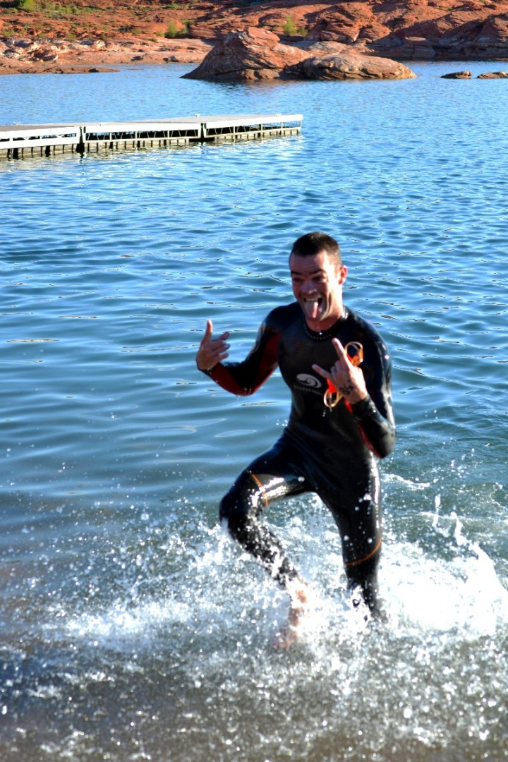 Perfect weather dogged competitors make kokopelli tri memorable stgnews photo gallery st for Sand hollow swimming pool st george