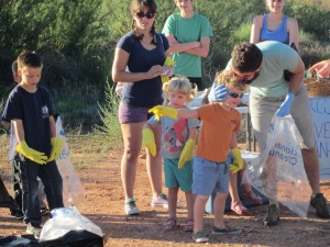 Parents and children alike participated in the first annual The Virgin River Clean-Up , St. George, Utah, Sept. 21, 2013 | Photo by Zach Windsor, St. George News