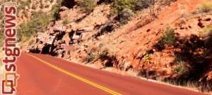 Red roads are a familiar sight to visitors throughout Zion National Park, Springdale, Utah, undated   Photo courtesy of Zion National Park