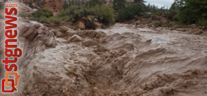 Flash flooding at upper Pine Creek, Zion National Park, Utah, Aug. 31, 2013 | Photo by John Teas, St. George News