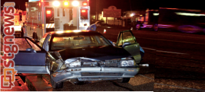 Two-vehicle accident in the area of 480 West State Street, (photo extended at the right to fit frame) Hurricane, Utah, Sept. 9, 2013 | Photo by Jeremy Crawford, St. George News