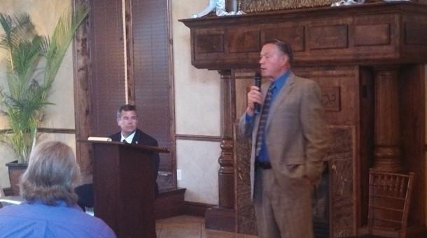 Incumbent Mayor Dan McArthur addressing the Dixie Republican Forum, St. George, Utah, Sept. 17, 2013 | Photo by Mori Kessler, St. George