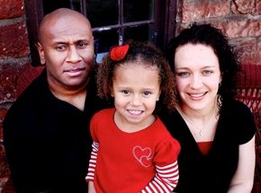 Joape and Christine Druava and their 6-year-old daughter Maraia | Photo courtesy of Jill Witt