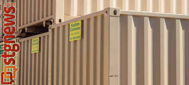 Cargo containers at Kustom Container, St. George, Utah, May 11, 2013   Photo by Chris Caldwell, St. George News