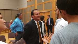 Sen. Lee speaking to constituents after his speech, St. George, Utah, Sept. 6, 2013 | Photo by Mori Kessler, St. George News