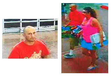 Surveillance photos of the suspected thieves | Photos courtesy of the Mesquite Police Department