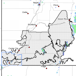 Areas under flash flood watch | Graphic courtesy of the National Weather Service