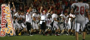 The Hurricane Tigers beat Pine View in overtime a year ago. File photo from St. George, Utah, Sept. 27, 2012   Photo by Robert Hoppie, St. George News