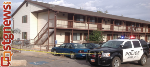Apartment complex at 468 South and 75 West, where an attempted murder and other offenses are alleged to have occurred. Cedar City, Utah, Oct. 9, 2013 | Photo courtesy of Cedar City Police Department, St. George News