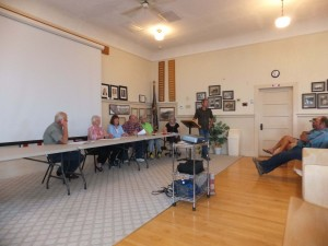 Rockville Town Council and Tracy Dutson, Rockville, Utah, Sept, 24, 2013 | Poto by Dan Mabbutt, St. George News