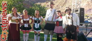 Contestants in a German dress contest at Rocktoberfest in Springdale UT, Oct. 26, 2013 | Photo by Drew Allred, St. George News