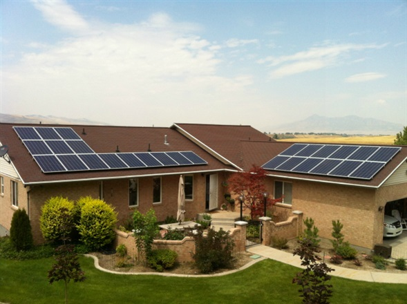 Residential solar power system | Photo courtesy of Intermountain Wind and Solar, St. George News