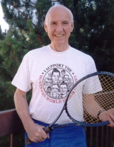 """John Morgan Jr.continues to play tennis at 90, he was honored with the """"Personal Best"""" award from the National Senior Games Association at the advent of the Huntsman World Senior Games 2013, St. George, Utah, date unspecified 