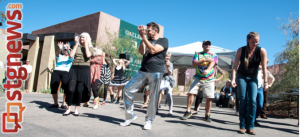 Flash mob breaks out dancing at the Art in Kayenta Festival, Ivins, Utah, Oct. 12, 2013 | Photo by Brandon Peterson, courtesy of Melynda Thorpe Burt, St. George News