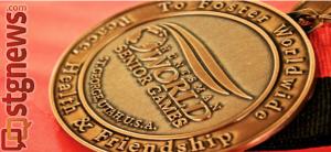 Gold medal, 2013 Huntsman World Senior Games, Hurricane, Utah, Oct. 19, 2013 | Photo by Michael Nielsen, St. George News