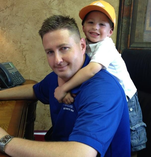 Jared Thompson and his son, St. George, Utah, May 11, 2013 | Photo courtesy of Jared Thompson for St. George News