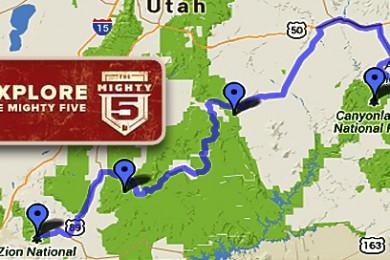 The Mighty Five Utah Map.Herbert To Utahns Be Ambassadors Of Utah S Mighty 5 National