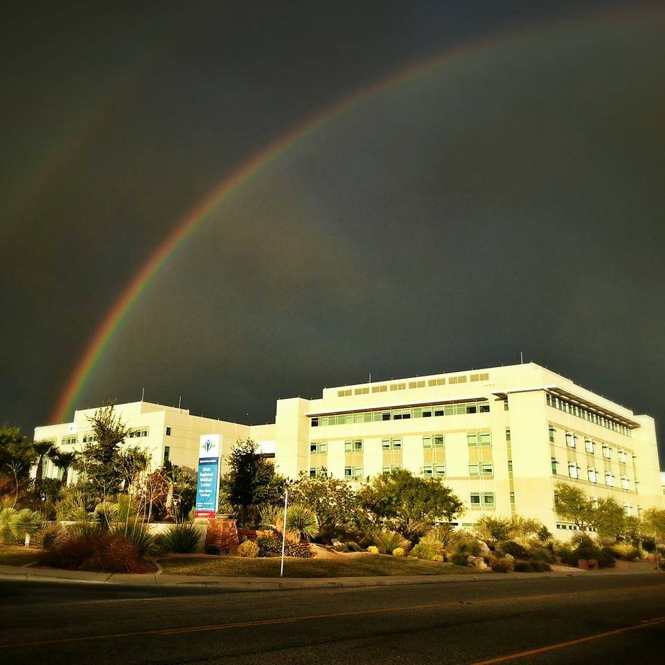 Rainbow over Dixie Regional Medical Center, St. George, Utah, Oct. 24, 2013 | Photo courtesy of Michael P. Klunker, St. George News