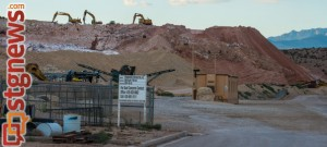 Gypsum mining operations in the Little Valley area, St. George, Utah, Sept. 5, 2013 | Photo by Dave Amodt,
