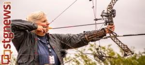 Nancy Holt, 3-D archery, 2013 Huntsman World Senior Games, St. George, Utah, Oct. 10, 2013   Photo by Jeremy Crawford, St. George News